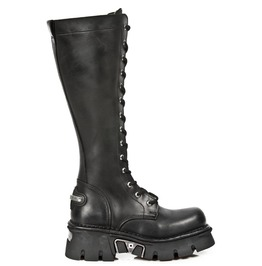 M.235.S1 New Rock Leather Unisex Knee Length Punk Boot Goth Boots