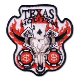 "Casino ""Texas Hold Em"" Iron Poker Patch Badge"