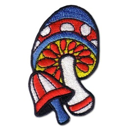 Happy Times Magic Mushroom Iron Patch Badge