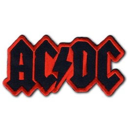 Acdc Patch Hard Rock Band Ac/Dc Logo Iron On Embroidered Ac Dc Badge