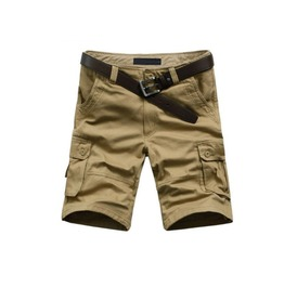 Men's Khaki/Black/Army Green Multi Pocket Casual Short