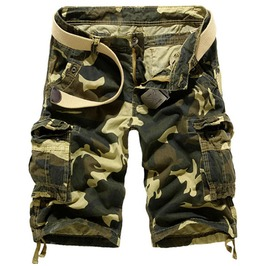 Men's Loose Fit Multi Pocket Army Shorts