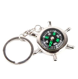 Sailor Compass Rudder Metal Keyring