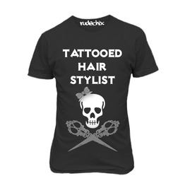 Tattooed Hair Stylist Fitted Tee