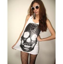 Diamond Skull Goth Punk Pop Art Rock Tank Top