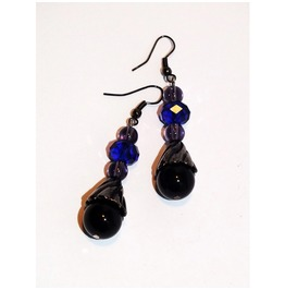 Dark Elegant Dangle Earrings