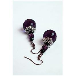 Fancy Purple Dangle Earrings