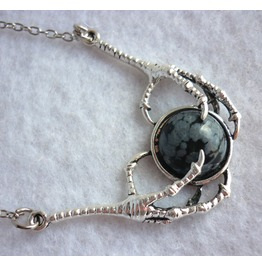 Dragon Stone Necklace Black Obsidian Claws Game Thrones Daenerys