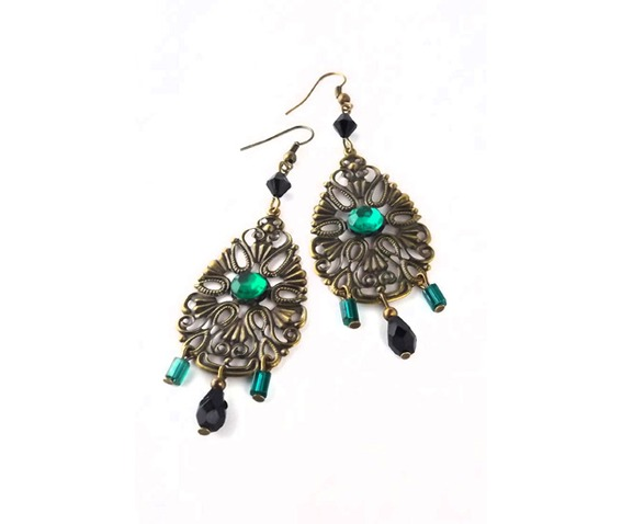 fancy_lacy_brass_dangle_earrings_black_green_beads_earrings_3.jpg