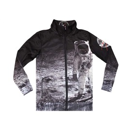 Moonwalk Men's Zipped Printed Sweatshirt Gagaboo