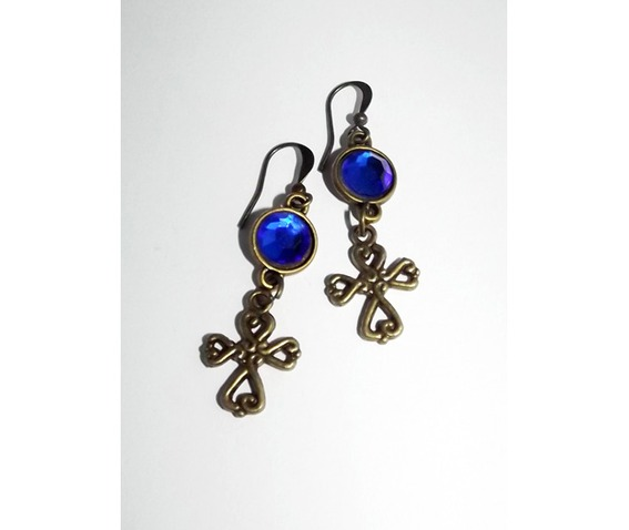 dangle_earrings_brass_color_crosses_blue_cabochons_earrings_4.jpg