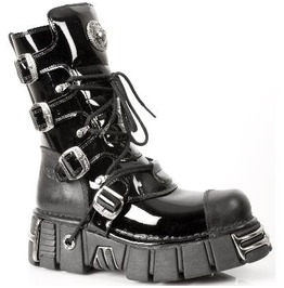 313 New Rock Pvc Patent Leather Punk Fetish Goth Boot $26 To Ship