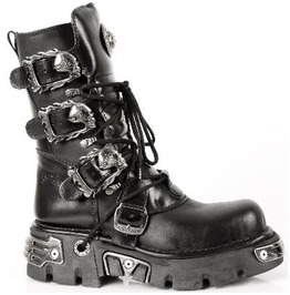 M.391 S1 New Rock High Quality Leather Skull Buckle Goth Boot $26 Shipping