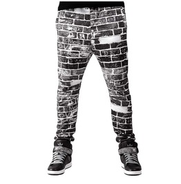 Brickwall Men's Printed Sweatpants Gagaboo