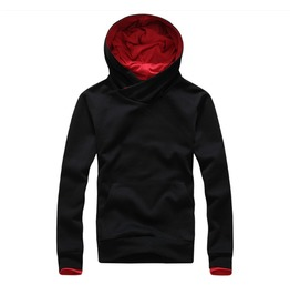 Mens Black/Red/Navy Casual Hoodie