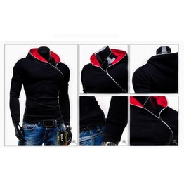 Men's Black/Red/Blue Street Hoodies