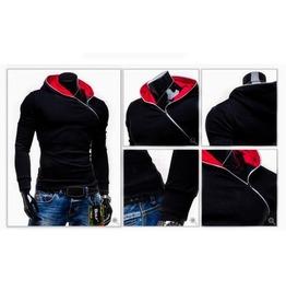 Men's Black/Red/Blue Street Hoodies