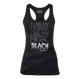 I Like My Coffee Like My Metal Black Tank Top