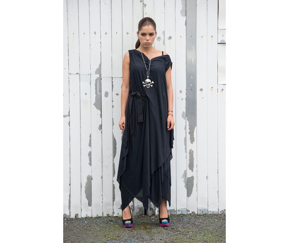 long_black_dress_draped_belted_dress_oversize_tunic_loose_belted_dress_dresses_5.jpg