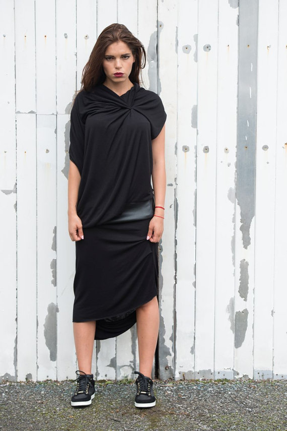 black_draped_dress_leather_detail_dress_draped_tunic_long_leather_dress_dresses_5.jpg