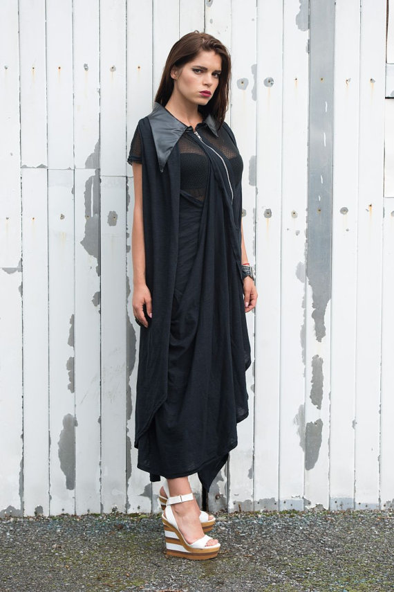 black_maxi_dress_zipper_asymmetric_dress_draped_oversize_loose_dress_dresses_4.jpg