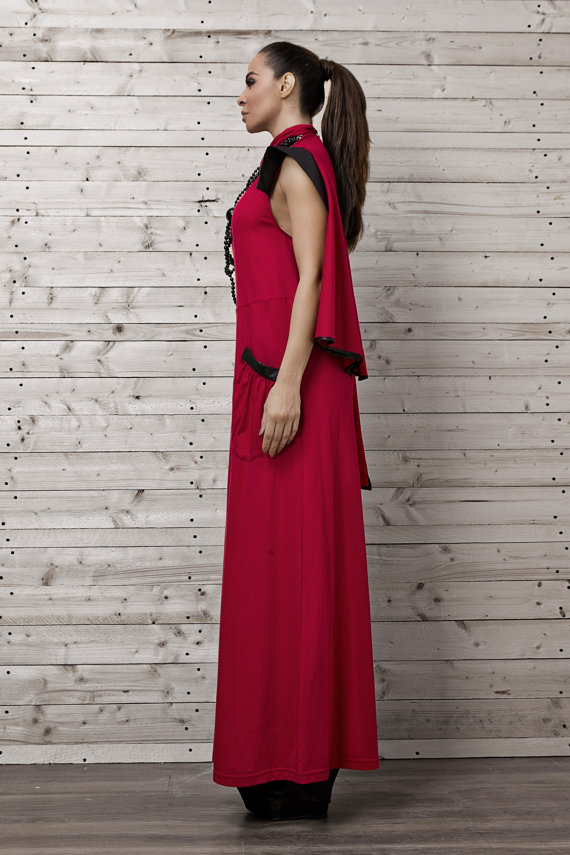 stylish_red_maxi_dress_draped_maxi_dress_red_long_dress_cotton_maxi_dress_dresses_5.jpg