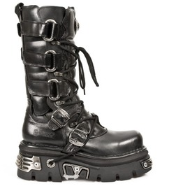 M.474 S1 New Rock High Quality Mid Length Buckle Punk Boot $26 Shipping