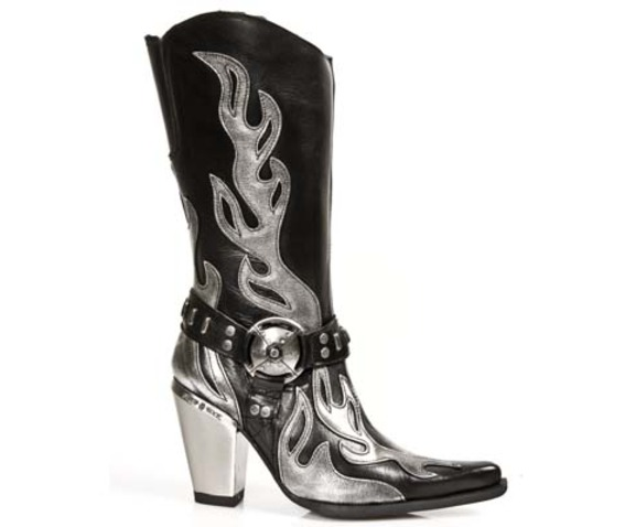 7901 Ladies New Rock High Quality Metallic Heel Cowboy Boot $26 To