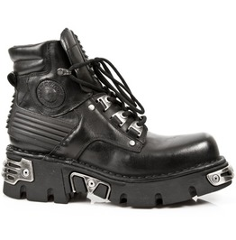 924 New Rock High Quality Black Leather Hiking Boot Goth Punk Boots