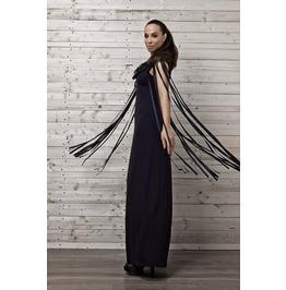 Maxi Fringe Dress / Navy Dress Fringing / Long Dress/ Kaftan
