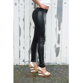 Black Leather Leggings / Black Leggings / Black Leather Pants / Urban Style