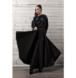 Maxi Black Skirt/ Long Black Skirt/ Oversize Long Skirt