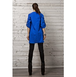 Cobalt Blue Shirt/ Asymmetrical Tunic/ Oversize Top / Blue Tunic