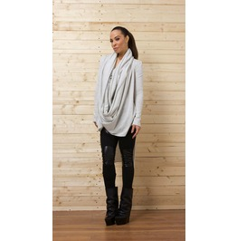 Gray Asymmetrical Top/ Long Blouse / Draped Tunic/ Loose Tunic
