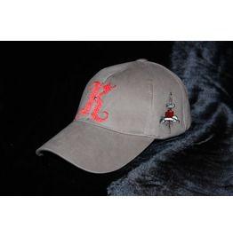 3e1330f229b Monogram Baseball Cap Khaki Gabardine Red Embroideries Glam Rock Clothing