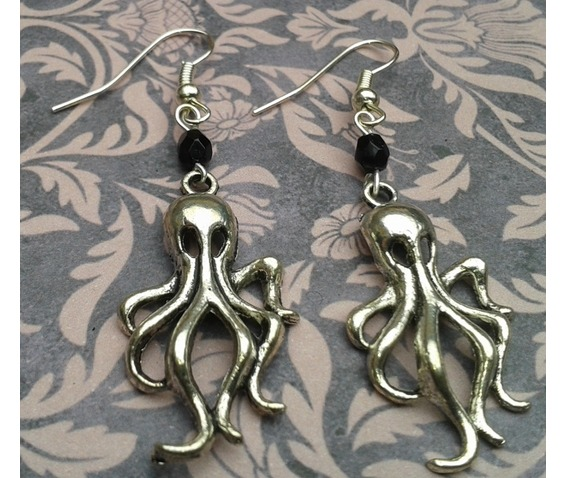 gothic_steampunk_cthulu_silver_metal_octupus_black_bead_earrings_earrings_2.jpg