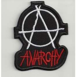 Anarchy Symbol Embroidered Patch, 4 X 3,2 Inch