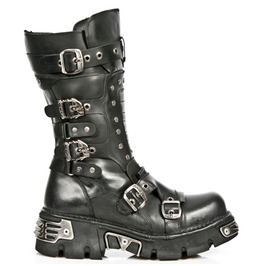 New Rock High Quality Goth Boots Unisex Leather Mid Length Biker Boot 1020