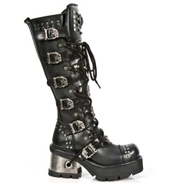 1030 New Rock High Quality Leather Buckled Gothic Punk Boot $26 To Ship