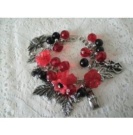 Goth Bug Bracelet, Goth Steampunk Rockabilly
