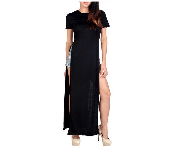 high_side_slits_black_summer_ankle_length_t_shirt_dress_t_shirts_6.JPG