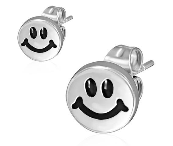 8mm_stainless_steel_2_tone_happy_smiling_smiley_circle_stud_earrings_pair_earrings_2.jpg