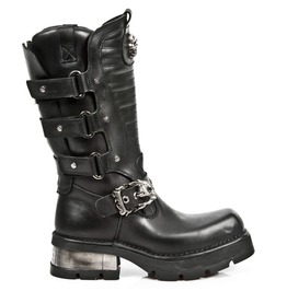 New Rock Biker Boots High Quality Leather Biker Motorcycle Boot M.1604 S1