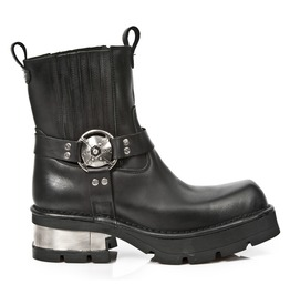 1605 New Rock High Quality Leather Dayton Ankle Motorcycle Boot $26 To Ship