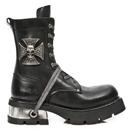 New Rock Army Boots High Quality Malta Cross Neo Biker Combat Boot 1623