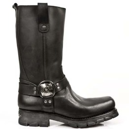 7610 New Rock High Quality Leather Terminator Biker Boots $26 To Ship