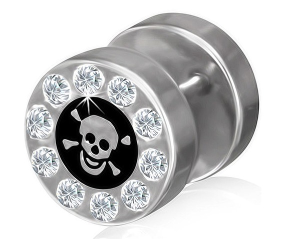 stainless_steel_2_tone_pirate_skull_crossbones_fake_ear_plug_clear_cz_pair_fake_plugs_and_piercing_jewelry_2.jpg