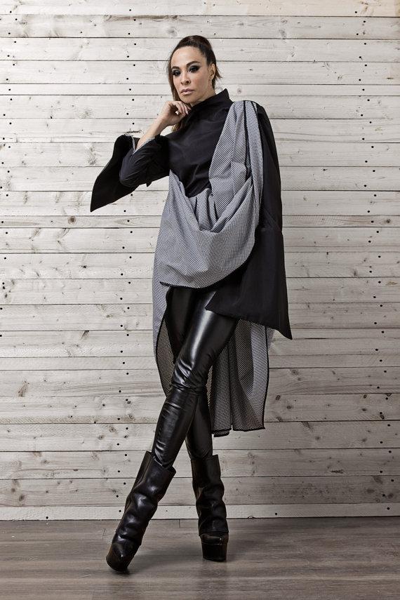oversize_monochrome_plaid_shirt_black_white_long_shirt_women_shirt_shirts_5.jpg