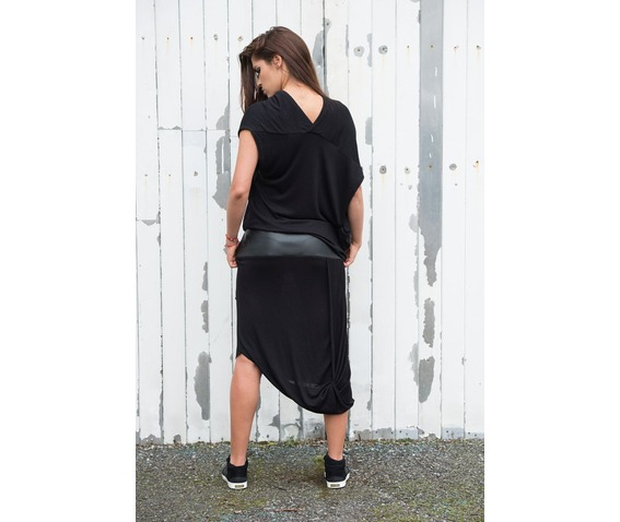 black_draped_dress_leather_detail_dress_draped_tunic_long_dress_leath_dresses_5.jpg