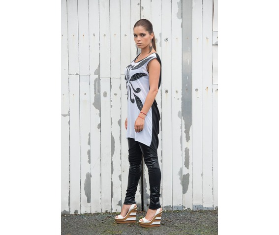 stylish_black_and_white_tunic_asymmetric_tunic_handmade_pattern_top_tank_tops_5.jpg